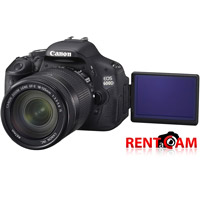 Hire Canon 600D (with 2 batteries, charger and 16GB SanDisk card!) with EF-S 18-135mm f3.5-5.6 IS USM from RENTaCAM this weekend