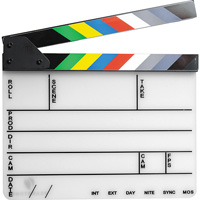 Pearstone Clapper board hire from RENTaCAM Sydney